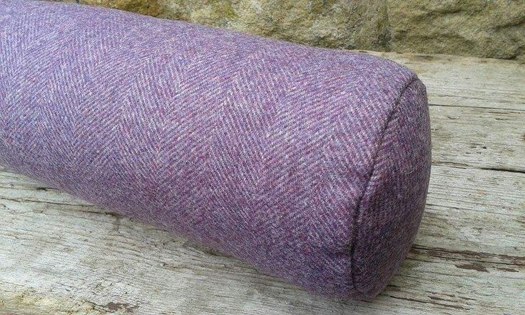 Door draught excluders Purple wide Herringbone Yorkshire Woven Wool fabric by Abraham Moon Handmade Filled by CowlingCountryCrafts on Etsy