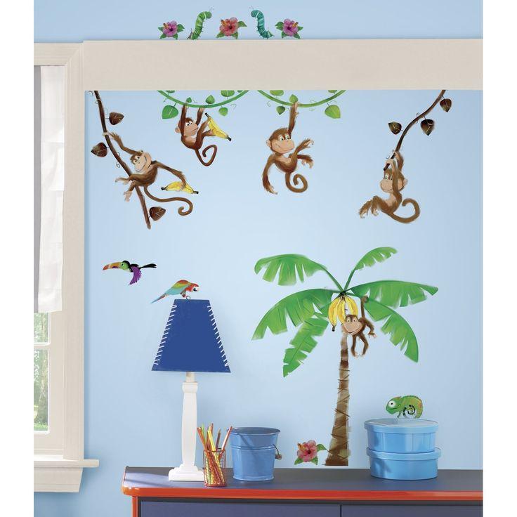 Awesome Dschungel Wandtattoo f r das Kinderzimmer Affen