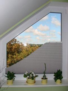 Pleated blinds for triangular windows – type 2 | Domus Lumina
