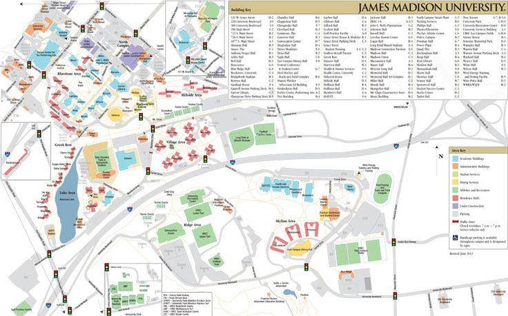 Campus Map: James Madison University
