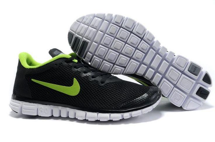 0n4Ka Nike Free 3.0 V2 Men's Running Shoes Black/Volt