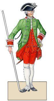 Saxon Kondukteur of the Ingenieurkorps in 1756
