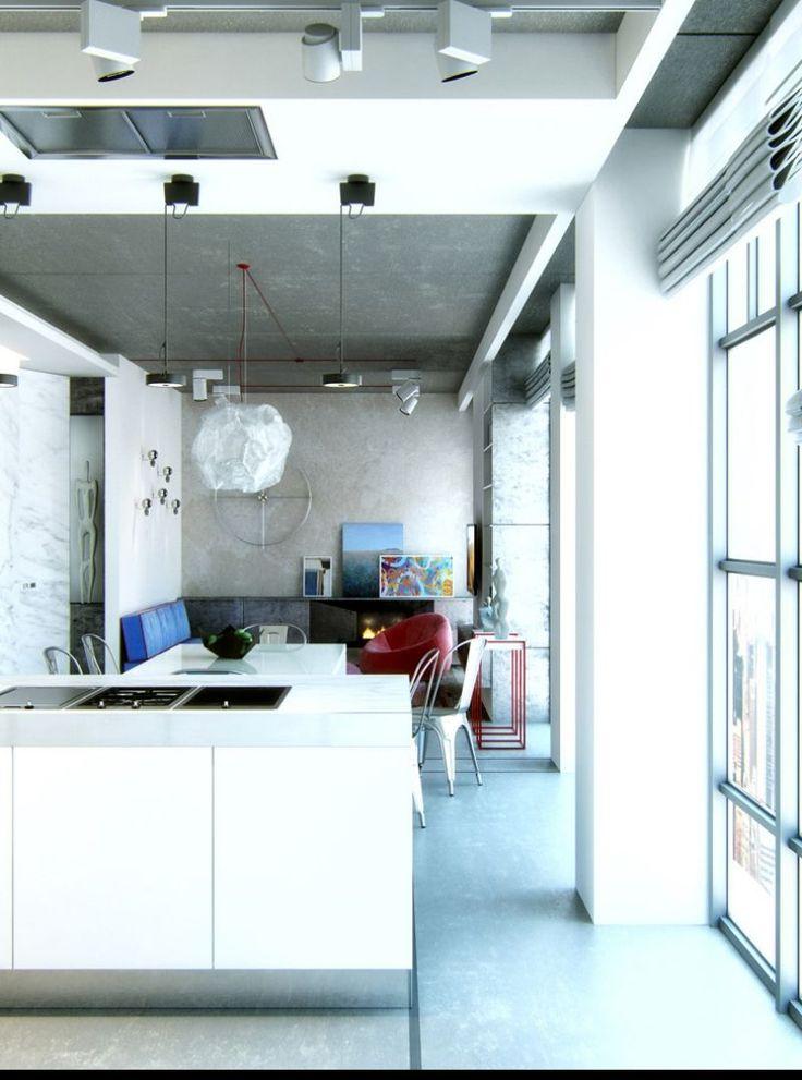 71 besten Living Bilder auf Pinterest einfaches Badezimmer - offene kuche wohnzimmer modern