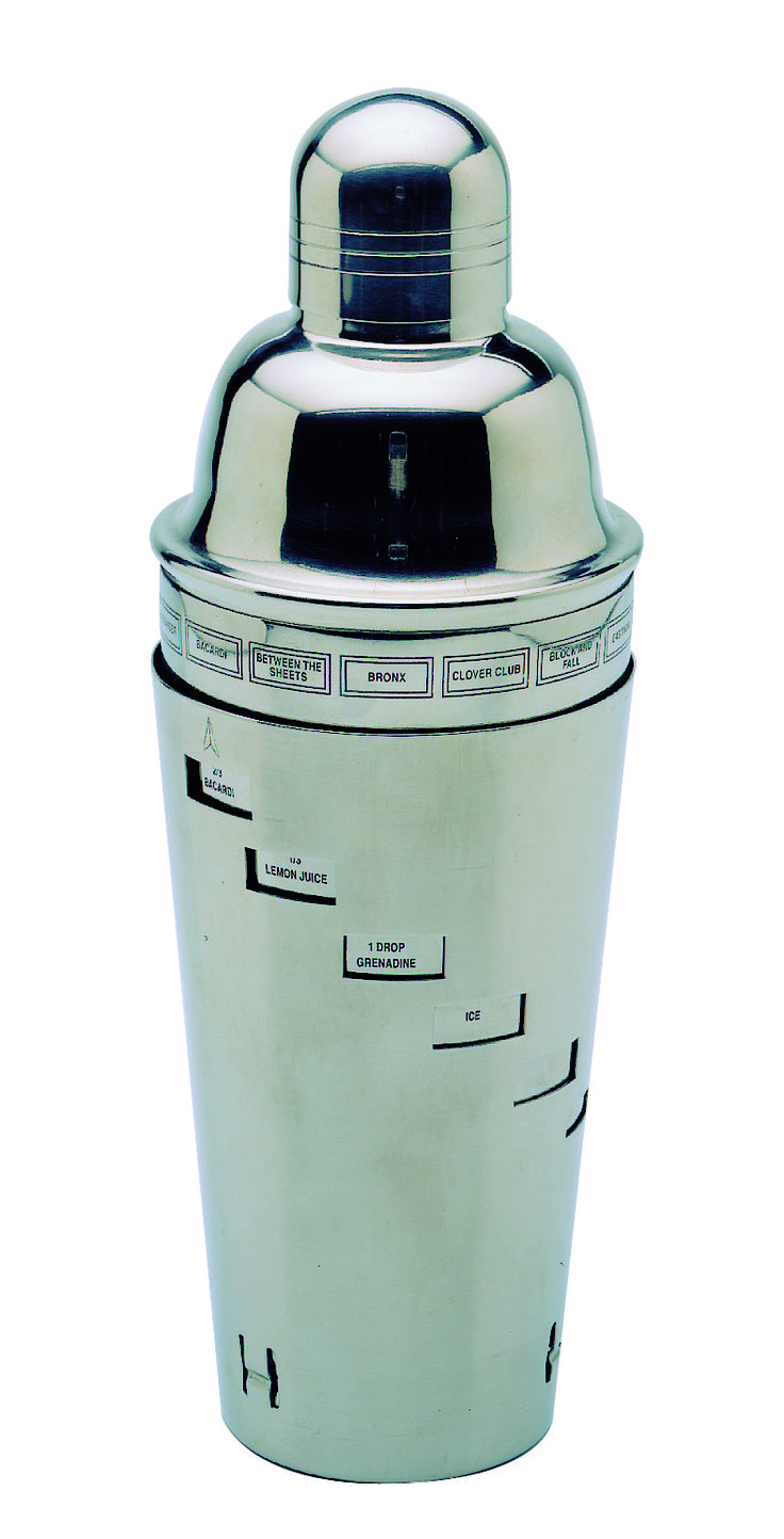 Shaker con ricette in acciaio inox ILSA