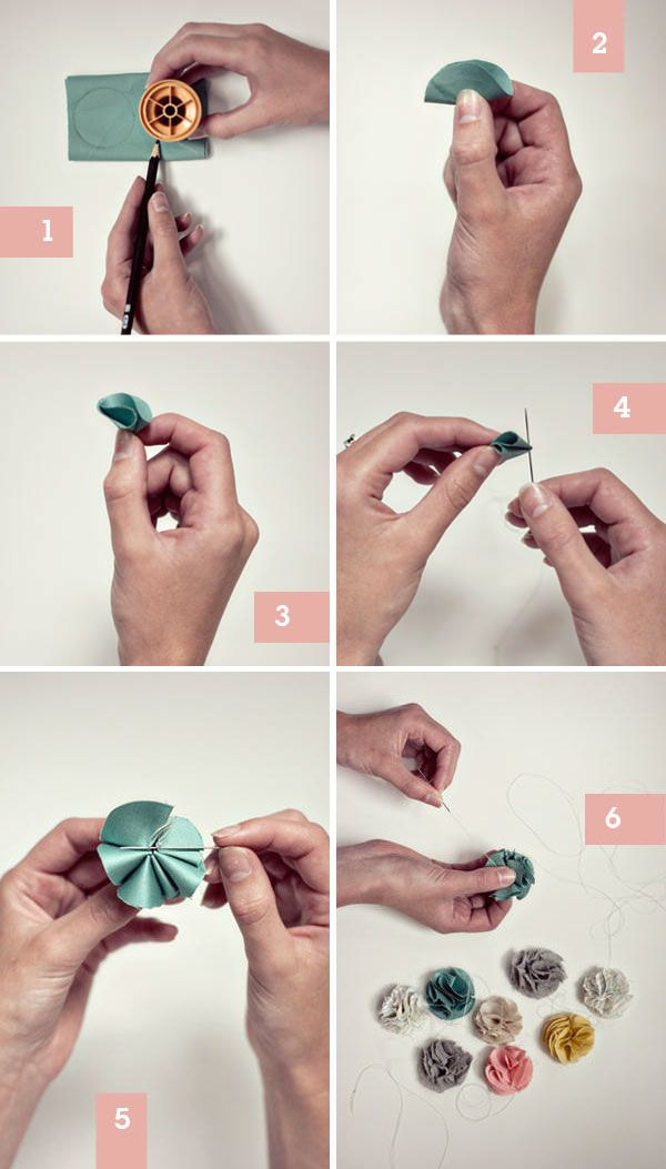 Fabric flowers how-to