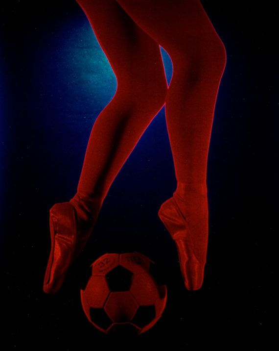 Photo of Red Ballet Tights and Soccer Ball  5x7 by terrymillsphoto, $12.00