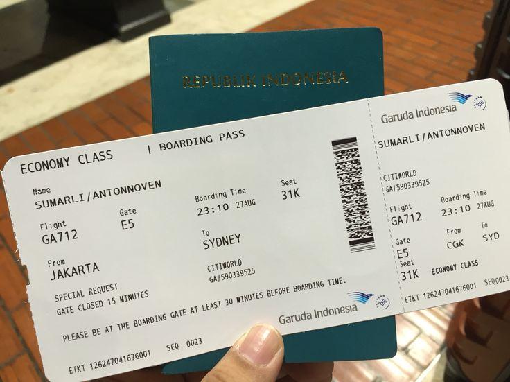 Jakarta - Sydney 27 Aug 2015 GA 712
