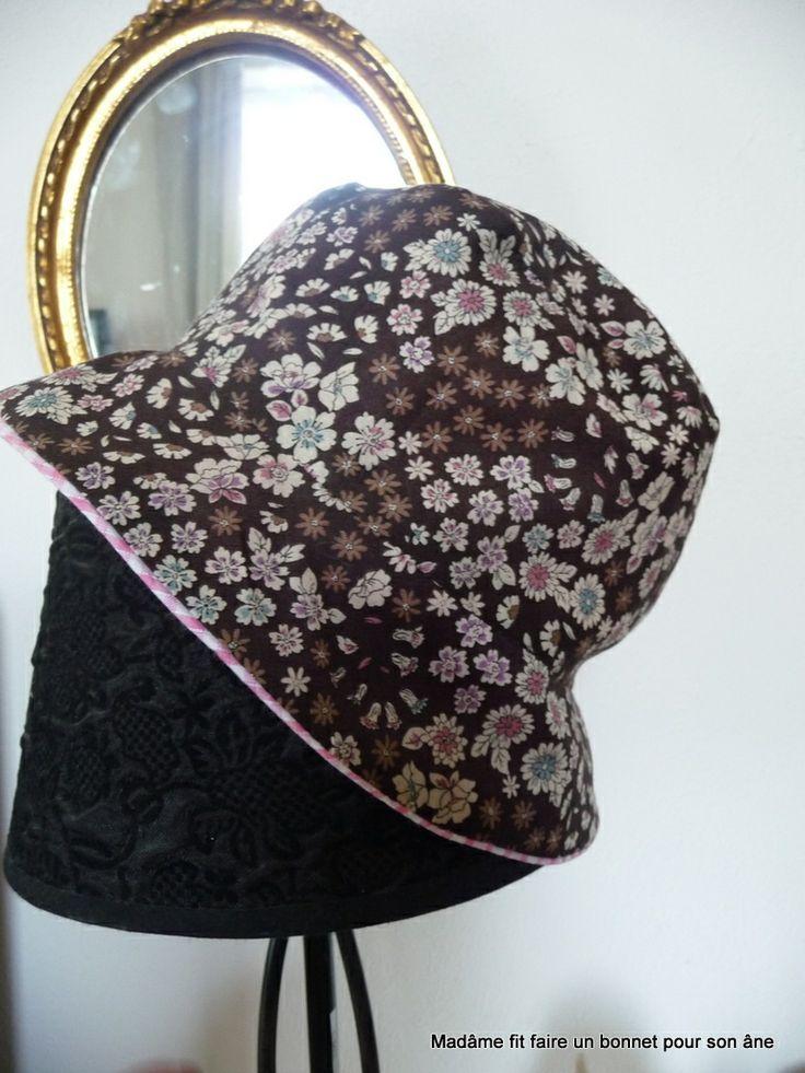 Tuto pour le chapeau cloche ou le bob / Step by step for Sun Hat - Madâme fit faire un bonnet pour son âne.over-blog.com
