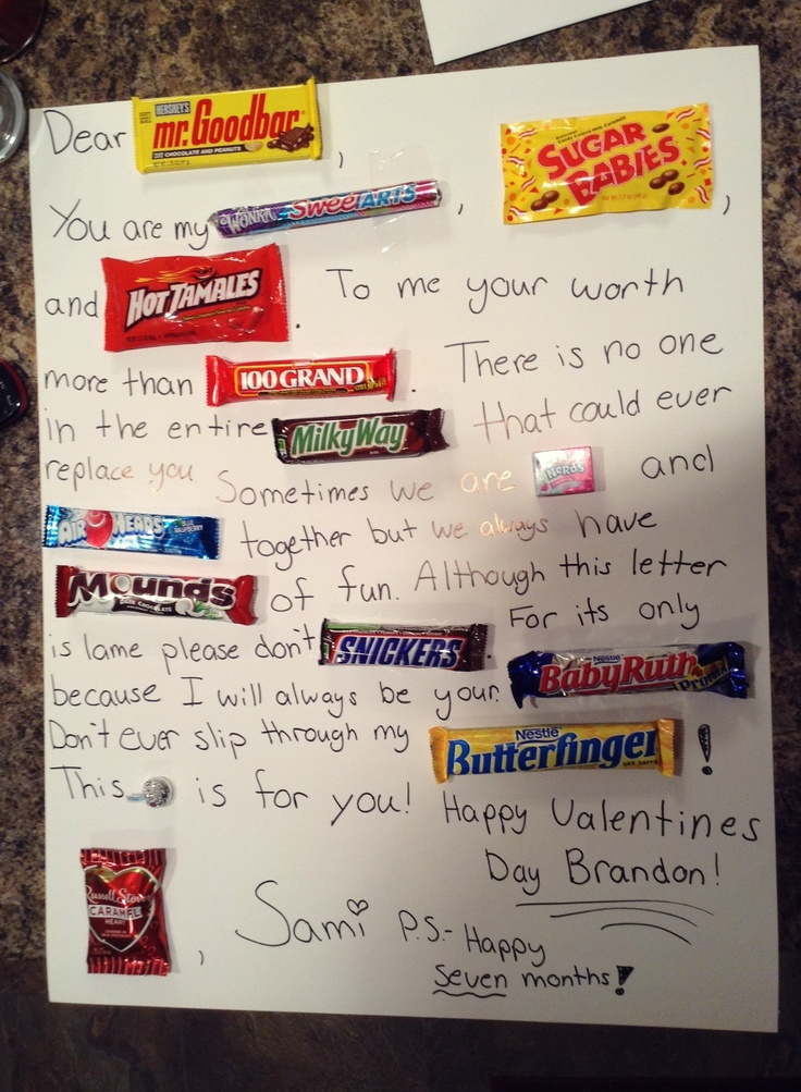 7 Best Candy Letter Ideas Images On Pinterest | Candy Letters