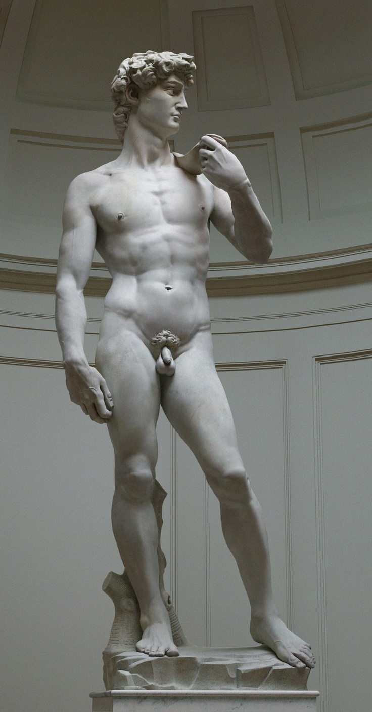 Michelangelo, 1504. David, 17' marble statue of the David with his sling shot.  Breathtaking in person.