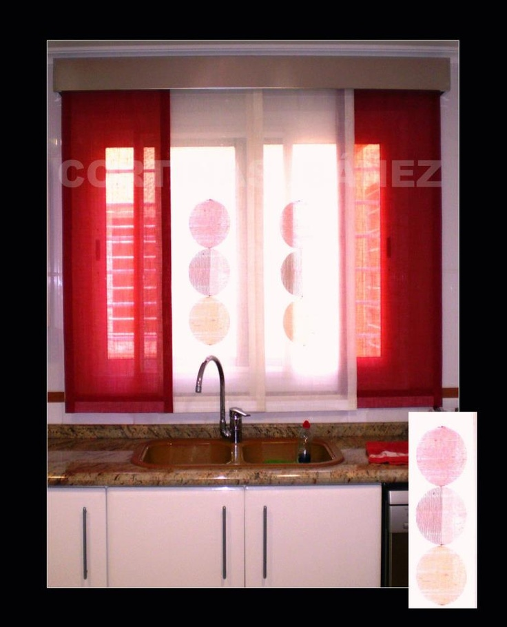 Mejores 18 imágenes de Cortinas en Cocinas en Pinterest | Visillos ...