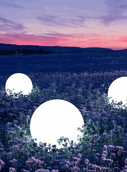 Glowing Orbs - Glowing LED Spheres- LED balls. Glowing battery operated orbs, glowing risers and floating spheres!