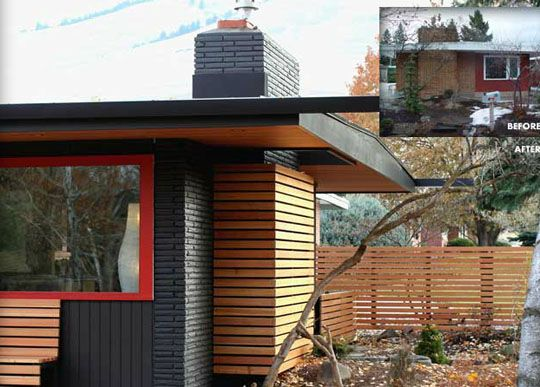 """If only I had an extra 10 or 20 thousand dollars to """"mid-century modernize"""" our little 1940's ranch. Nice mix of wood and colors."""