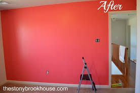 coral accent wall - Google Search