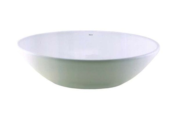 R$ 291,00 50x37x14cm Deca Cuba de Apoio Oval Branco Gelo Ref.: L68 - Deca