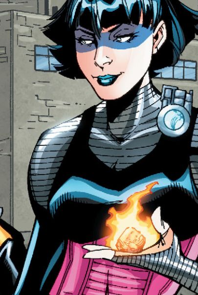 A demolitions expert terrorist with explosive powers who fought Firestorm on occasion. Plastique would meet and marry Captain Atom for a brief time before being placed in the Suicide Squad.