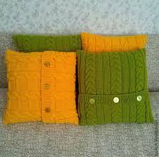 Картинки по запросу вязаные подушки спицами
