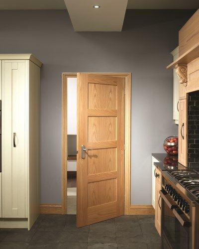 Pre-Finished Oak Shaker 4 Panel #paneldoors