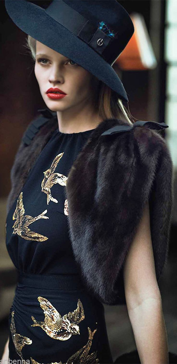 Miu Miu Vogue us, must look up close because the details on the dress are amazing~