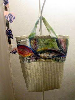 Bag- Saco com Tecido Pintado