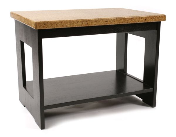 Paul Frankl For Johnson Furniture Company End Table Circa Late Feature  Solid Cork Tops Atop Solid Mahogany Bases.