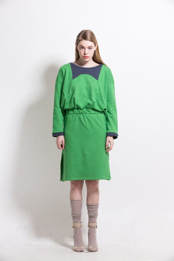 Big bow jersey dress by couturierholiday on Etsy, $165.00