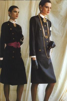 Inès de la Fressange - Chanel haute couture, early eighties.