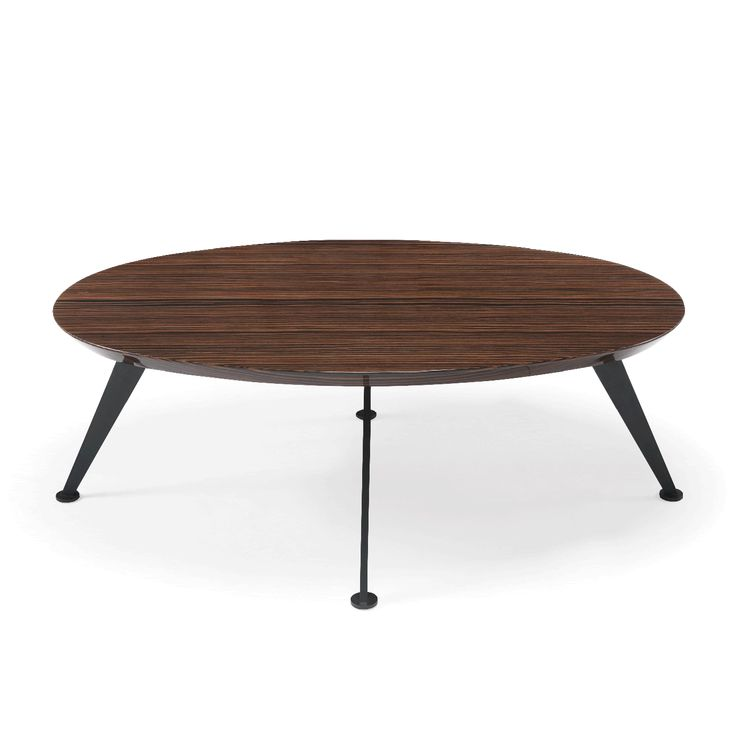 Space Center Table | Laskasas | Coffee table in walnut veneer and with four black lacquered feet. The antithesis of the two materials provides a tremendous hability to adapt to any environment. | www.laskasas.com