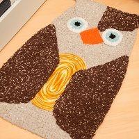 Tapete Coruja SoftCoruja De, Crochê Crochet, Coruja Soft, Crochet Owls, Tapetes Coruja, Crochê Infantil, Quaver, Barroco Soft