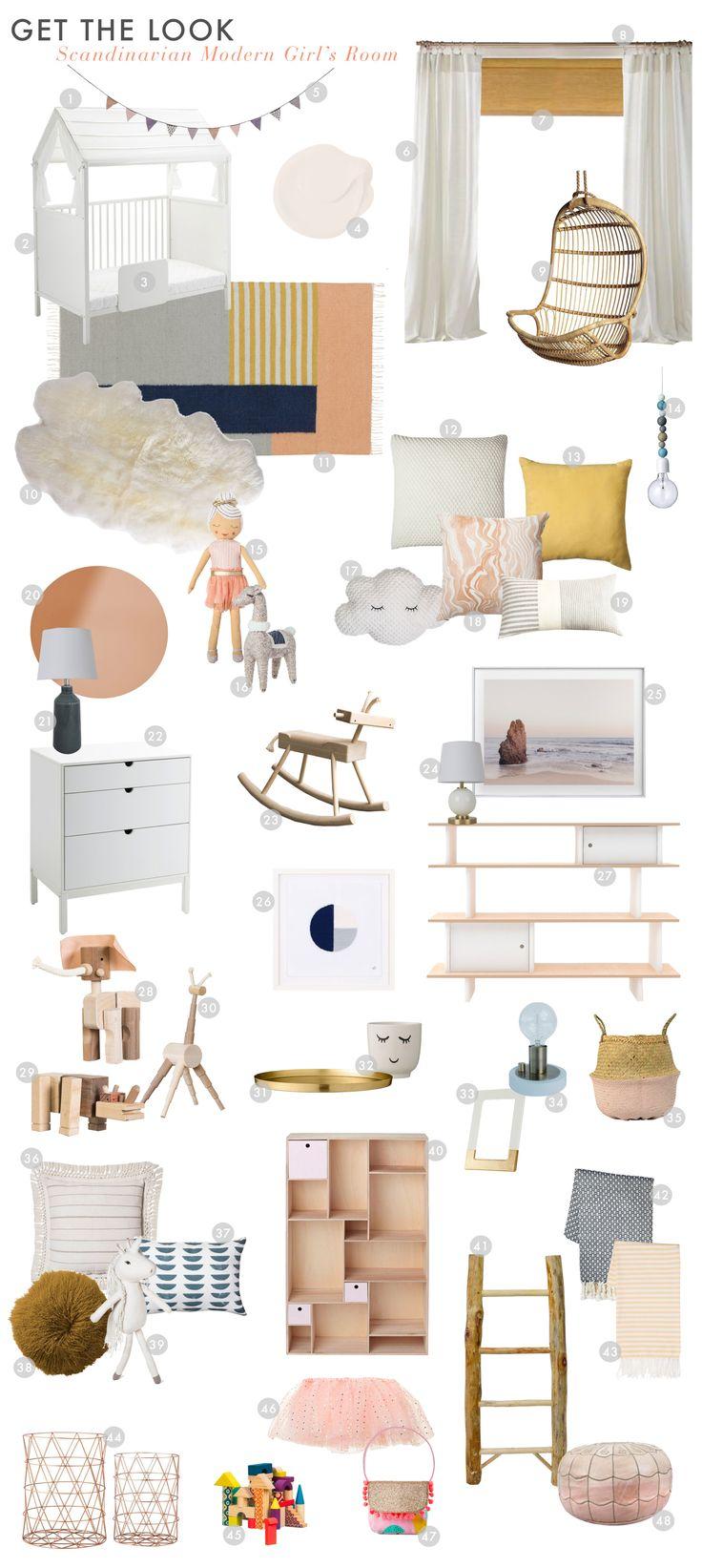 Want a Scandinavian Modern Little Girl's Bedroom? Here's a the perfect guide @stokkebaby @bradytolbert