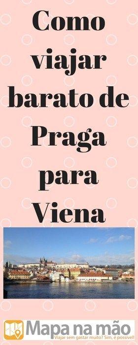 Como viajar barato de Praga para Viena - Mapa na mão