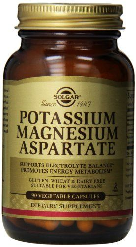 Solgar Potassium Magnesium Aspartate Vegetable Capsules, 90 Count *** Check out the image by visiting the link.