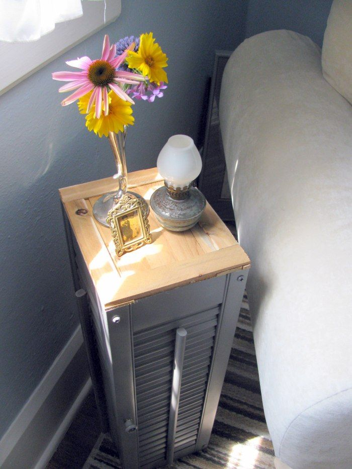 Turn shutters into a side table!