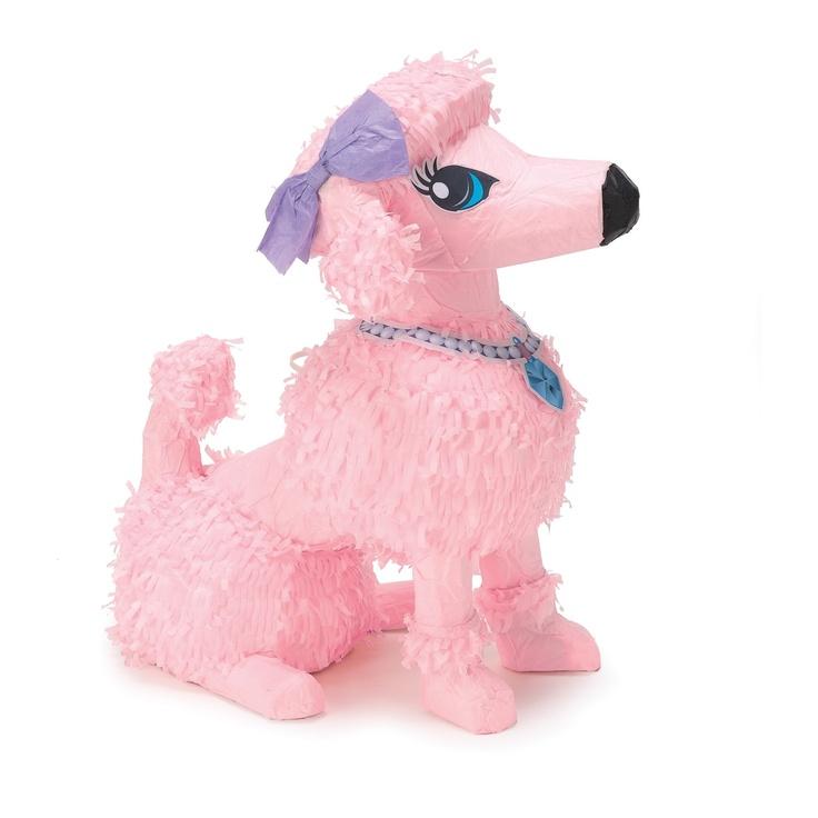 "Pink Poodle 15"" Pinata  Party in Paris birthday idea"