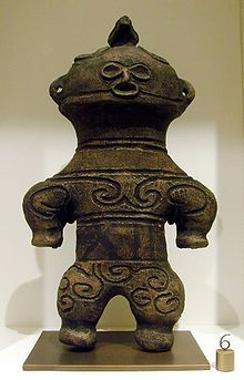 Japan, Dogū - Jomon period, absolutely extravagant statues. I'm not all into that ancient übermedialized (ancient) UFO thing, it's much more complicated than a that. though, to me it does look like it's intricately dressed (space suit ?)