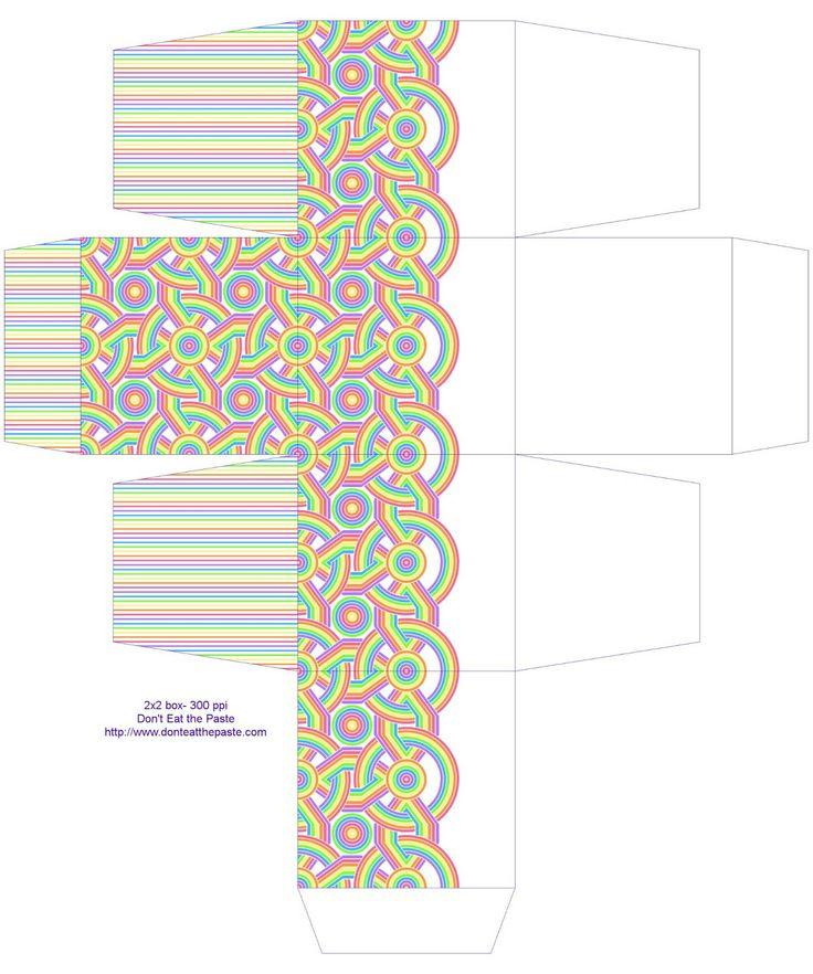 Druckbare Regenbogen Geschenk-Box-print und machen!
