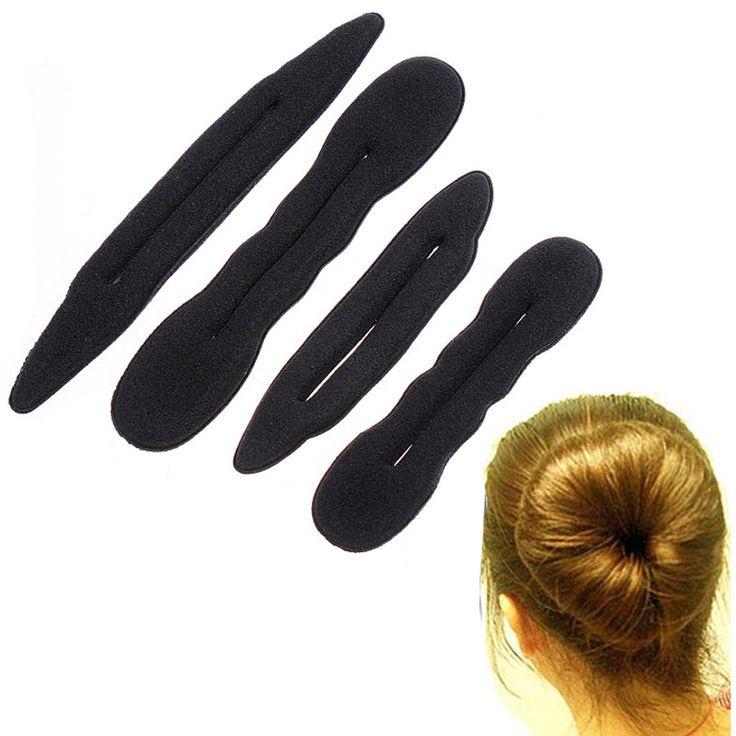 4 шт. волшебная губка волос группа эластичный для укладки волос Bun чайник твист бигуди инструмент для укладки волос инструментыкупить в магазине Moda HomeнаAliExpress