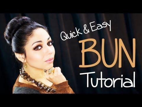 Quick & Easy Bun Tutorial by my fave Makeup Guru Charis (Charisma Star TV)!