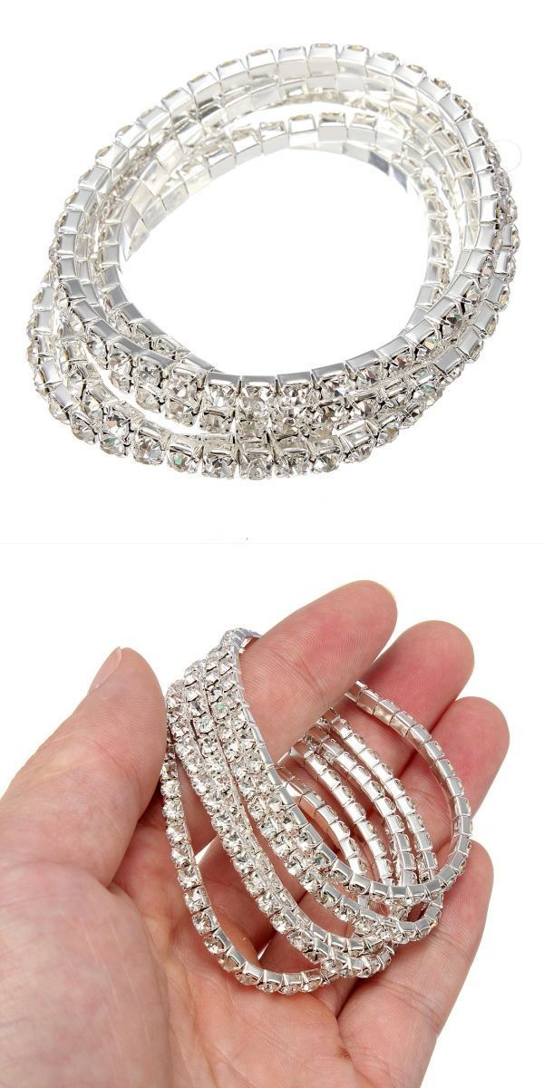 5pcs silver elastic wedding bridal diamante crystal bracelet bangle bracelets newport ri #bracelets #i #promise #bracelets #justin #bieber #wears #d.i.y #bracelets #trion #z #bracelets