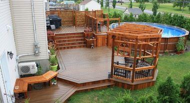 A voir : modele deck de piscine hors terre | Decks Backyard ...
