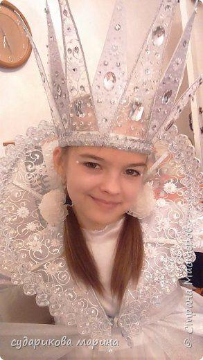 Гардероб Мастер-класс Новый год Аппликация Моделирование конструирование Шитьё Корона снежной королевы Бисер Картон Кружево Ленты Проволока Ткань фото 1