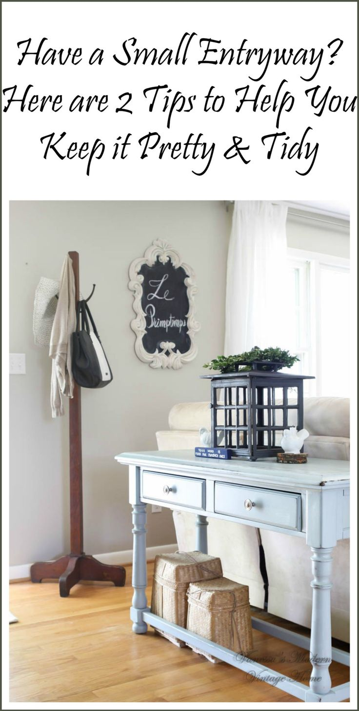 2 tips to decorate a small entryway! - Vanessa's Modern Vintage Home