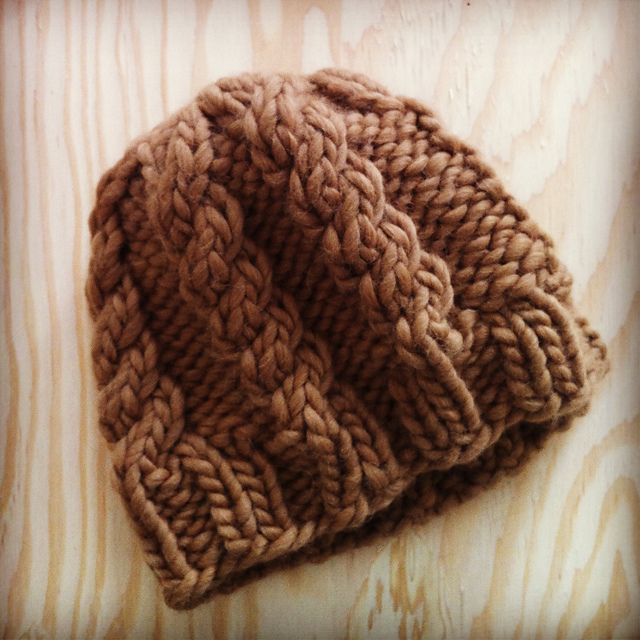 Cable knit hat - 1-night knitting