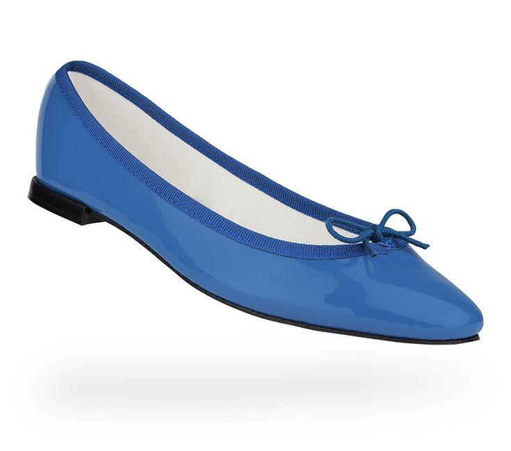 Ballerine Cendrillon Bleu abysse Vernis