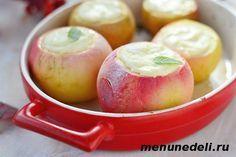 Печёные яблоки с творогом