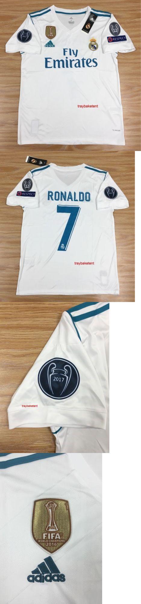 Men 123490: Real Madrid Cristiano Ronaldo White Short Sleeve Jersey 2017-2018 Size Medium -> BUY IT NOW ONLY: $44.99 on eBay!