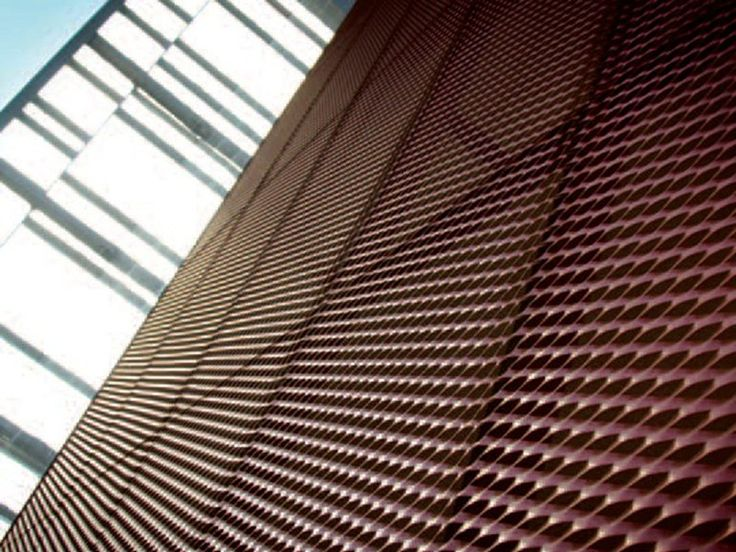 Stretched mesh for facade finish Continuous facade system by FILS