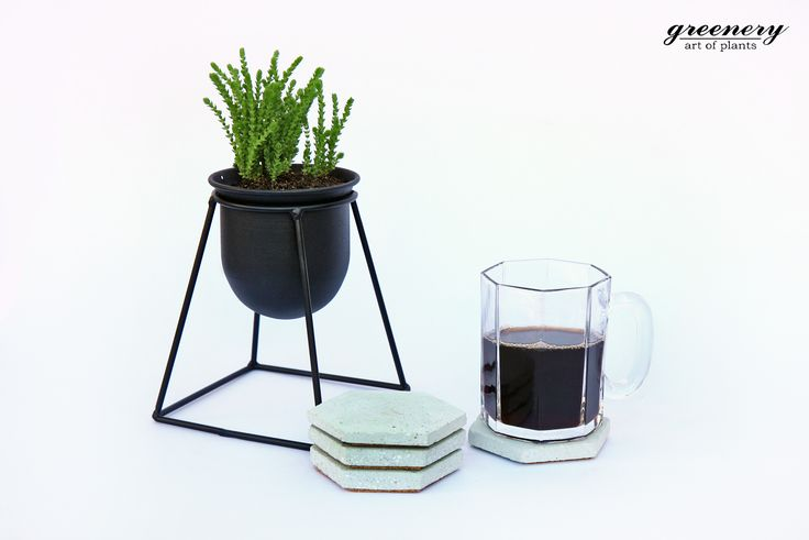 New week! Happy planning! Concrete creations by greenery #greenery #plants #cactus #succulents #airplants #concrete #coasters #coffee #wire #pots #chania