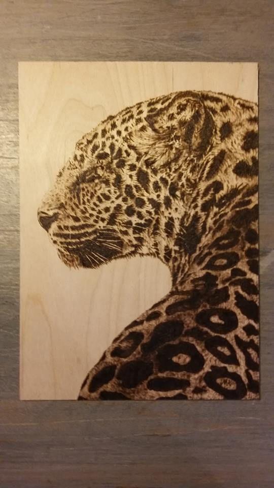 first work pyrografie Leopard 1-9-2015