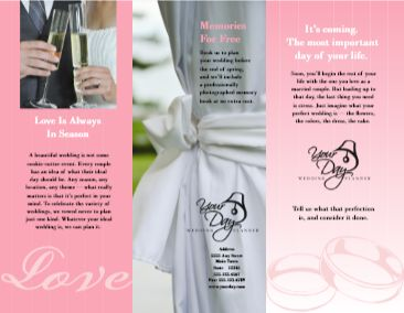Wedding Brochure Examples 13 Best Brochures Images Free Stencils And